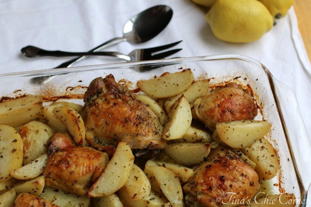 Baked Greek Chicken  Roasted Greek Chicken And Potatoes In Lemon Oregano