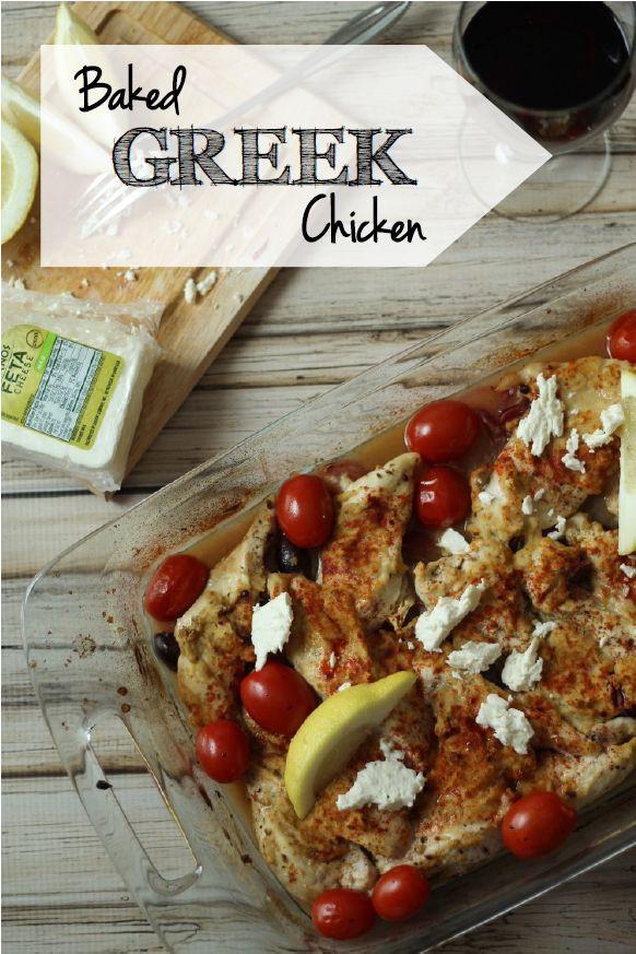 Baked Greek Chicken  18 best images about Greek Chicken Recipes on Pinterest