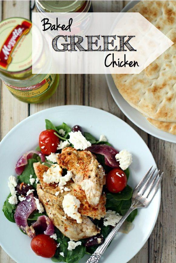 Baked Greek Chicken  100 Greek Chicken Recipes on Pinterest