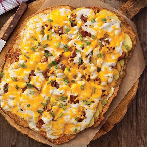 Baked Potato Pizza  Baked Potato Pizza Recipe Cooking with Paula Deen