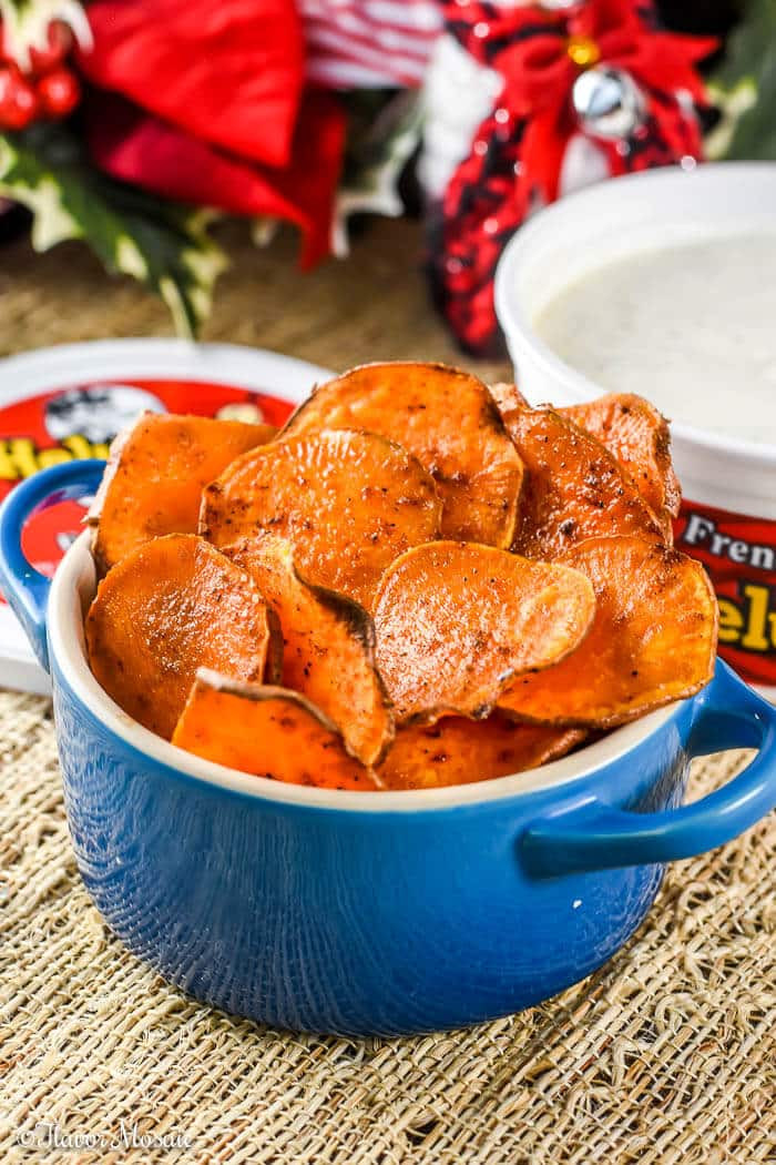 Baked Sweet Potato Chips  Homemade Baked Sweet Potato Chips Recipe Flavor Mosaic