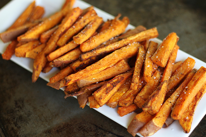 Baked Sweet Potato Chips  Oven Baked Sweet Potato Fries with Fry Sauce