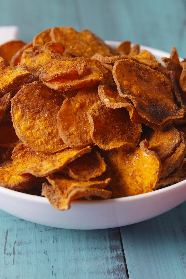Baked Sweet Potato Chips  Best Baked Sweet Potato Chips Recipe How to Make Sweet