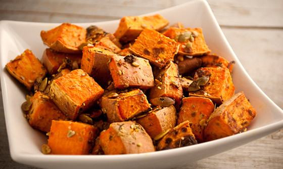 Baked Sweet Potato Nutrition  Roasted Sweet Potatoes with Pumpkin Seeds The Vegan Road