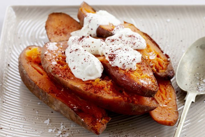 Baked Sweet Potato Nutrition  Baked sweet potato with sour cream
