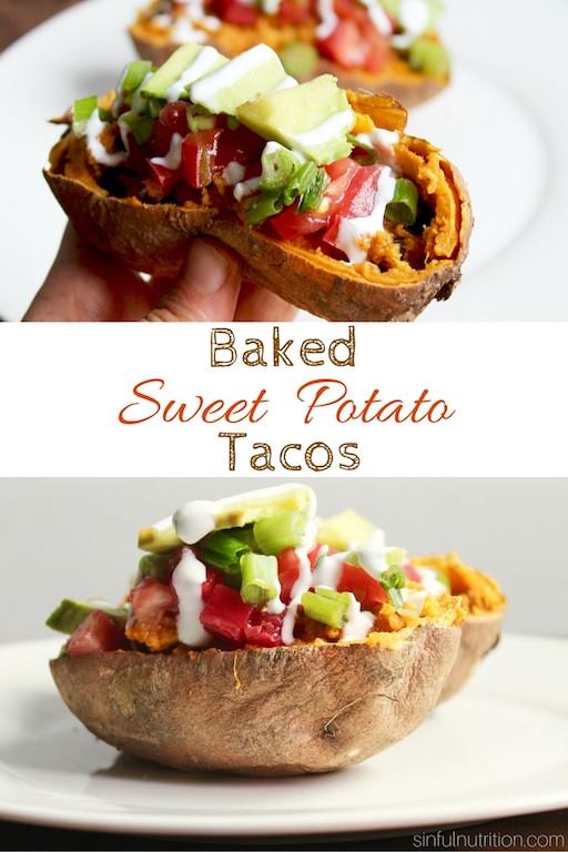 Baked Sweet Potato Nutrition  Baked Sweet Potato Tacos Vegan GF Sinful Nutrition