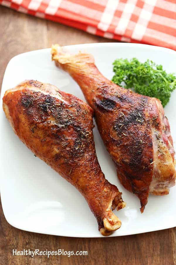 Baked Turkey Legs  Roasted Turkey Legs with Crispy Skin