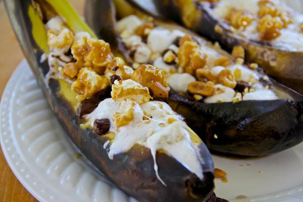 Banana Boat Dessert  Churro Quesadillas Smore Stuffed Banana Boats and More