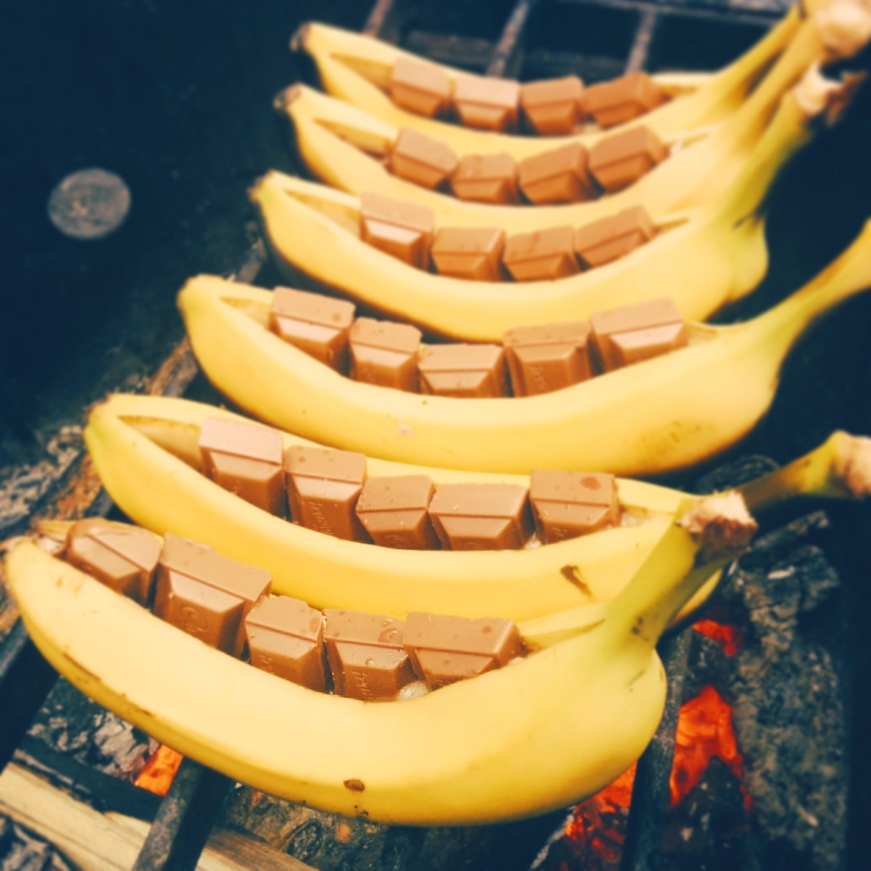 Banana Boat Dessert  Campfire Banana Boats Vincci Tsui RD
