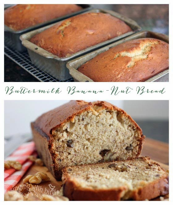 Banana Bread Buttermilk  Buttermilk Banana Nut Bread Cheery Kitchen
