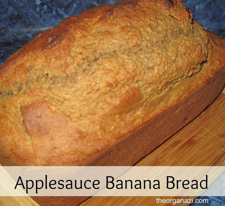 Banana Bread Recipe With Applesauce  The 14 best images about Healthy snacks x on Pinterest