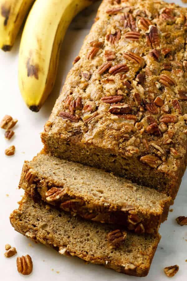 Banana Bread Recipe With Applesauce  Healthy Dairy Free Banana Bread with Applesauce Recipe