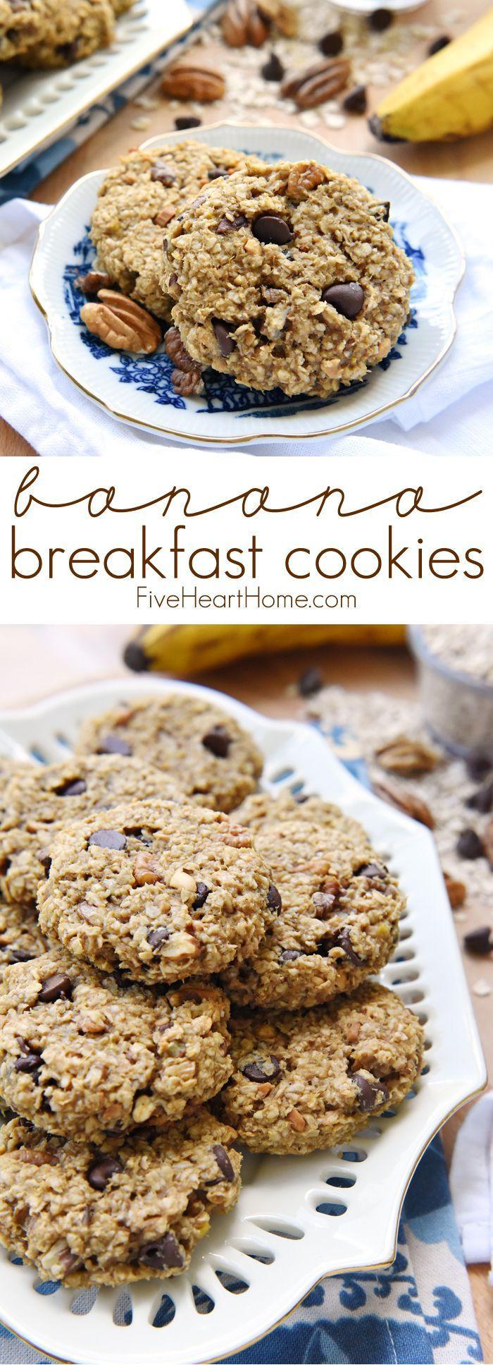 Banana Breakfast Recipes  Banana Breakfast Cookies a wholesome yummy breakfast on