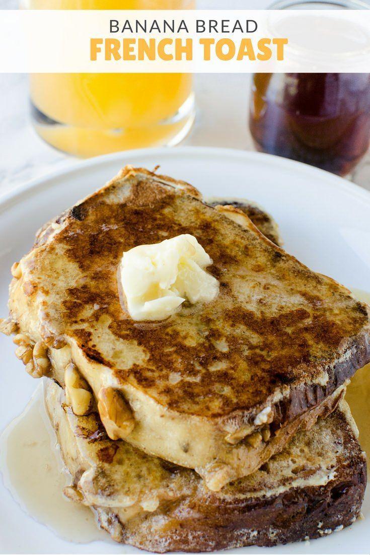 Banana Breakfast Recipes  Best 25 Banana bread french toast ideas on Pinterest