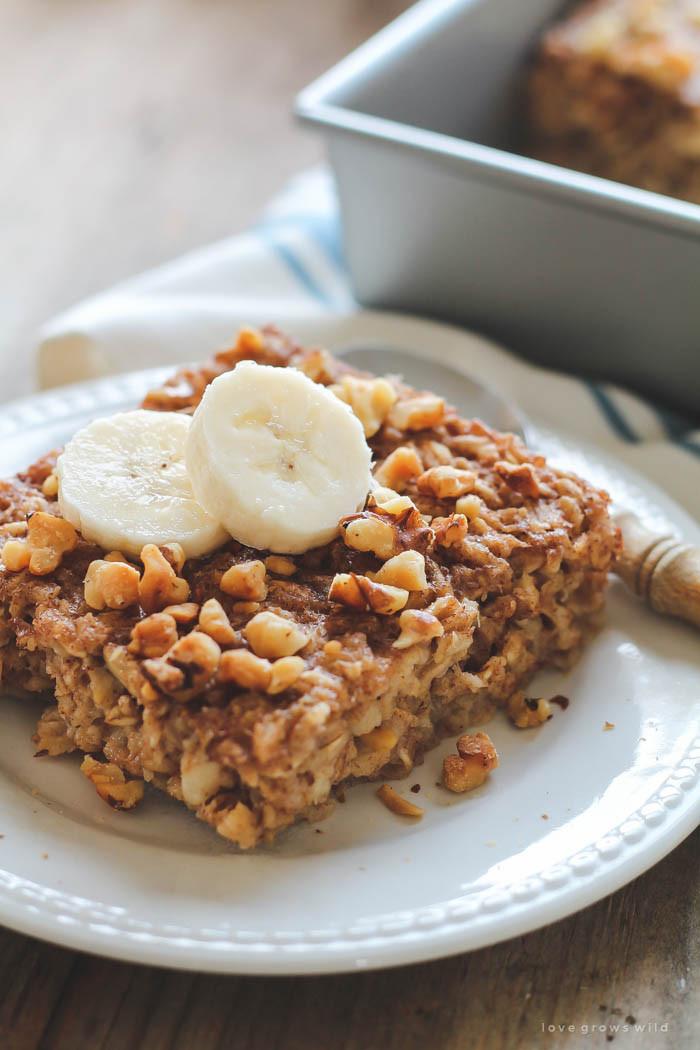Banana Breakfast Recipes  Banana Bread Baked Oatmeal Love Grows Wild