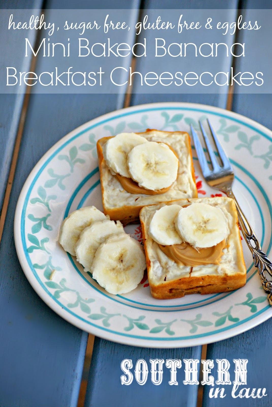 Banana Breakfast Recipes  Southern In Law Recipe Mini Baked Banana Cheesecakes so