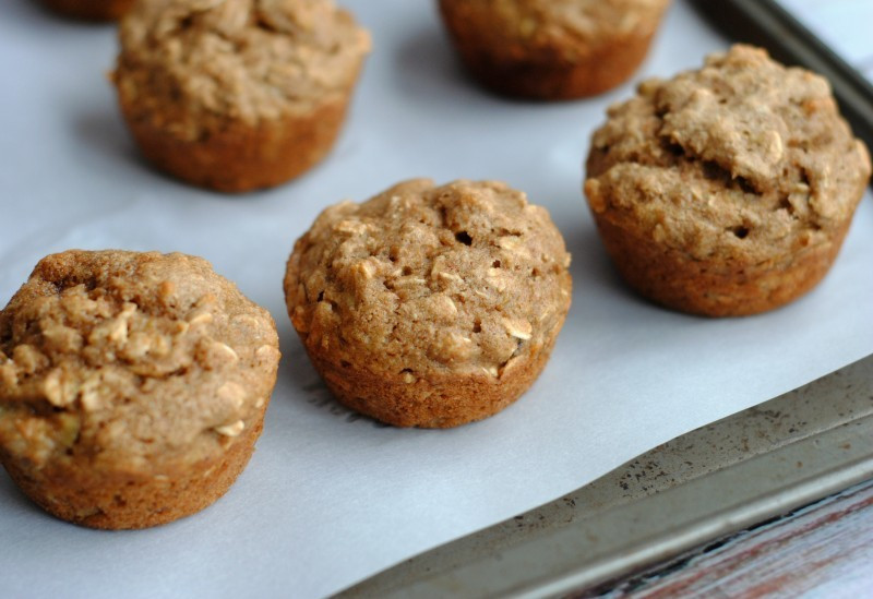 Banana Muffins With Applesauce  Oatmeal Banana Applesauce Muffins