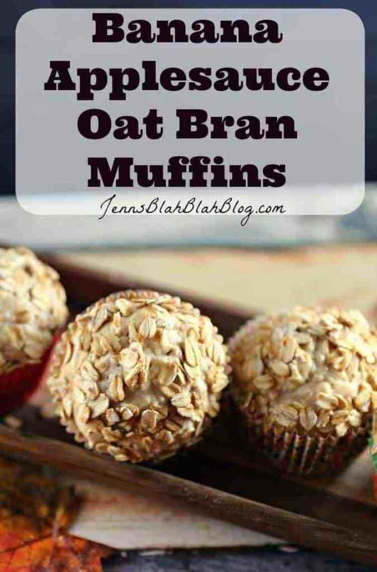 Banana Muffins With Applesauce  Fifty50 Foods Banana Applesauce Oat Bran Muffins