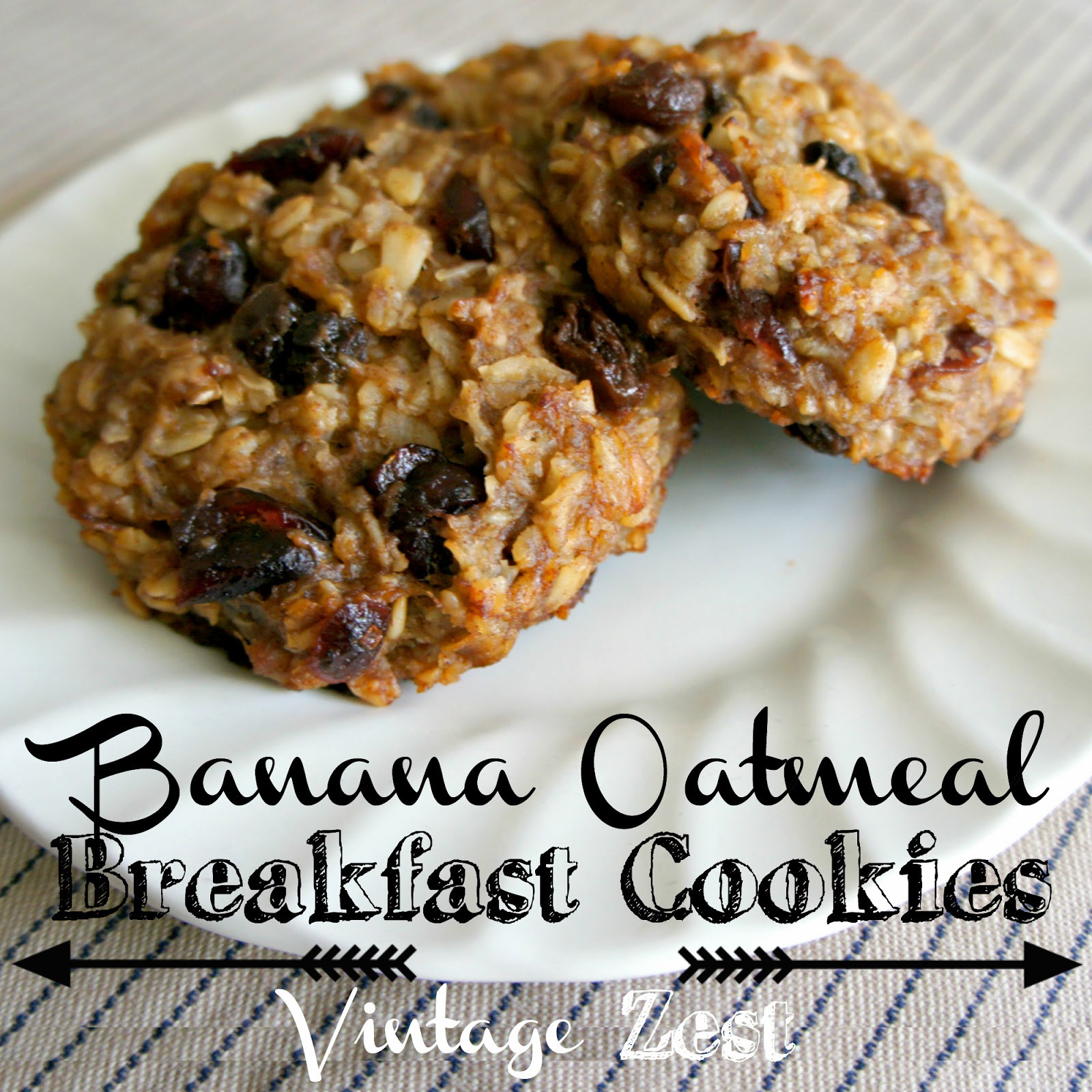"Banana Oatmeal Breakfast Cookies  Favorite Breakfast 4 Banana Oatmeal Breakfast ""Cookies"