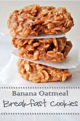 Banana Oatmeal Breakfast Cookies  The Buttercream Banana Oatmeal Breakfast Cookies