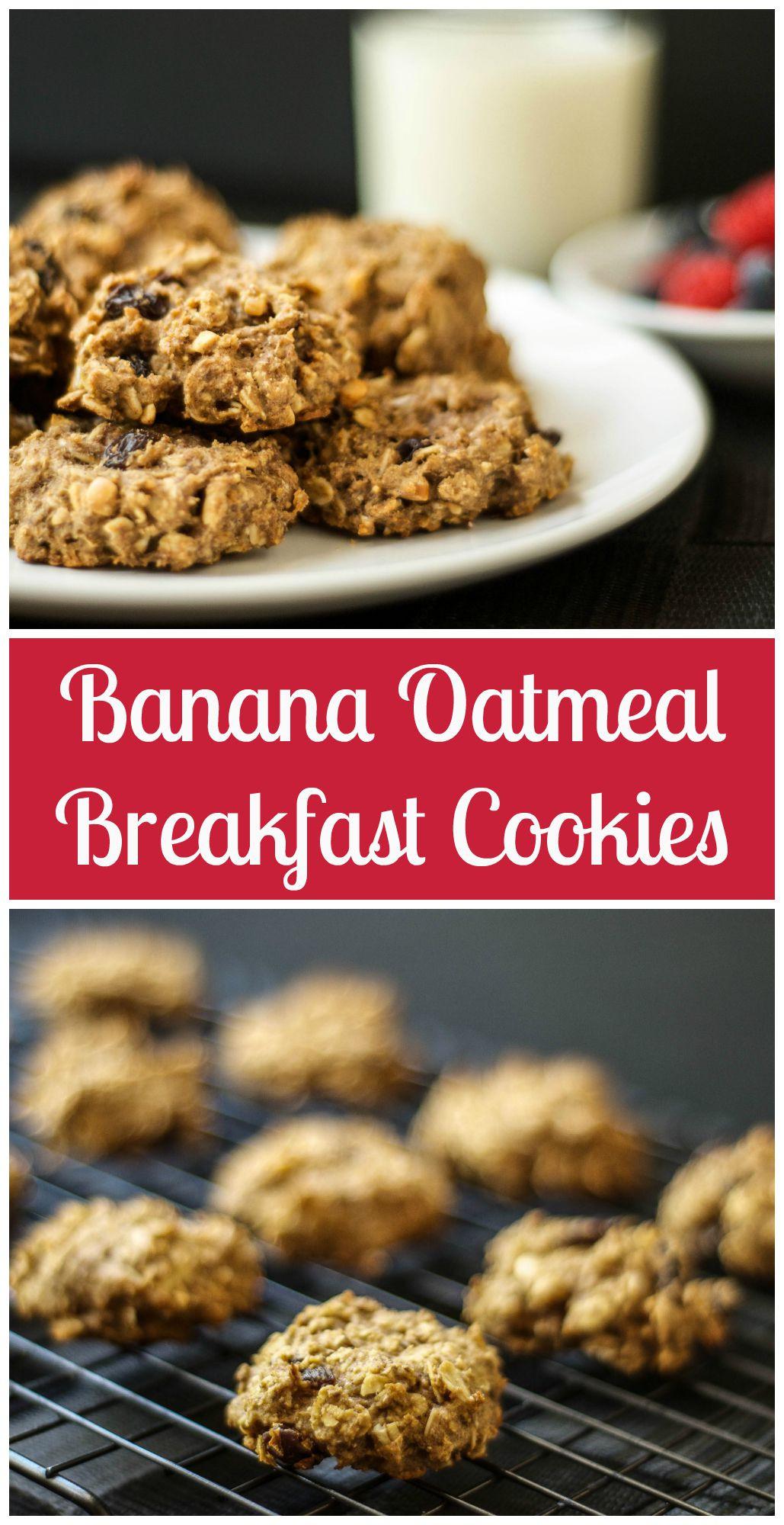 Banana Oatmeal Breakfast Cookies  Banana Oatmeal Breakfast Cookies Vegan The Wholesome Fork