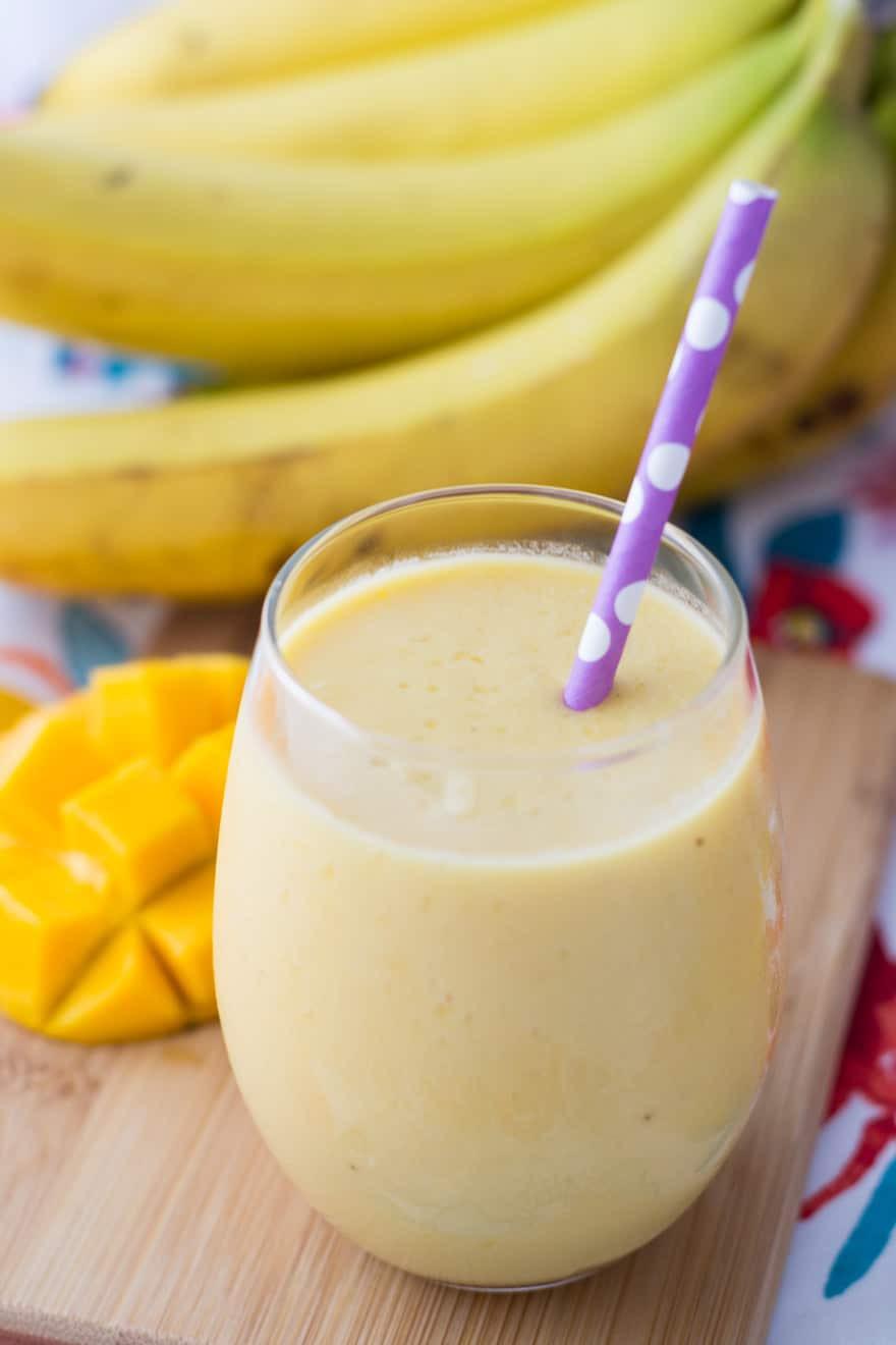 Banana Smoothie Recipes  4 Ingre nt Mango Banana Smoothie A Healthy Tropical Drink
