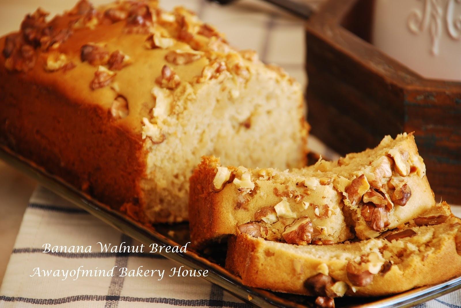 Banana Walnut Bread  Awayofmind Bakery House Banana Walnut Bread Cook like