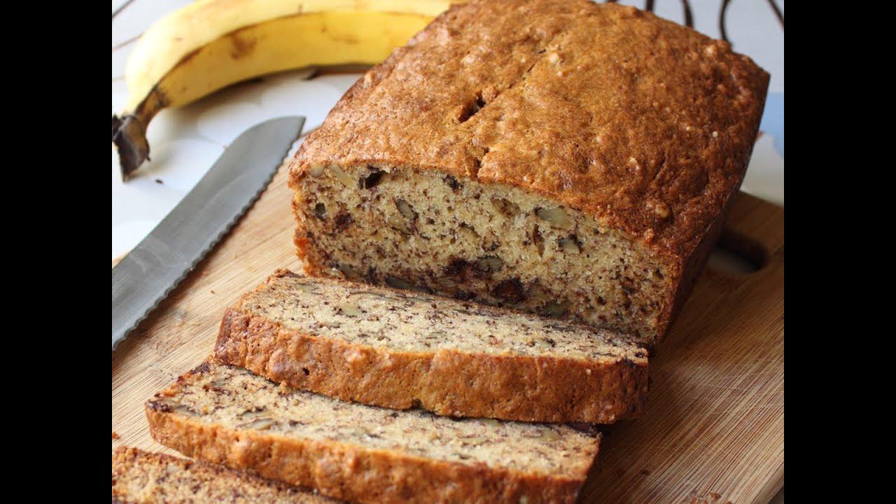 Banana Walnut Bread  Banana Bread Recipe Chocolate Banana Nut Loaf