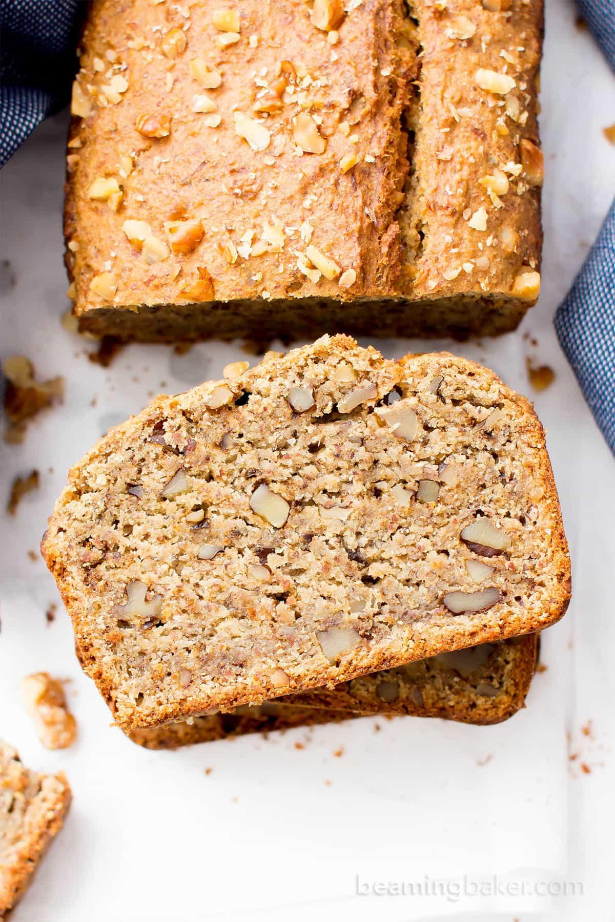Banana Walnut Bread  flourless banana bread