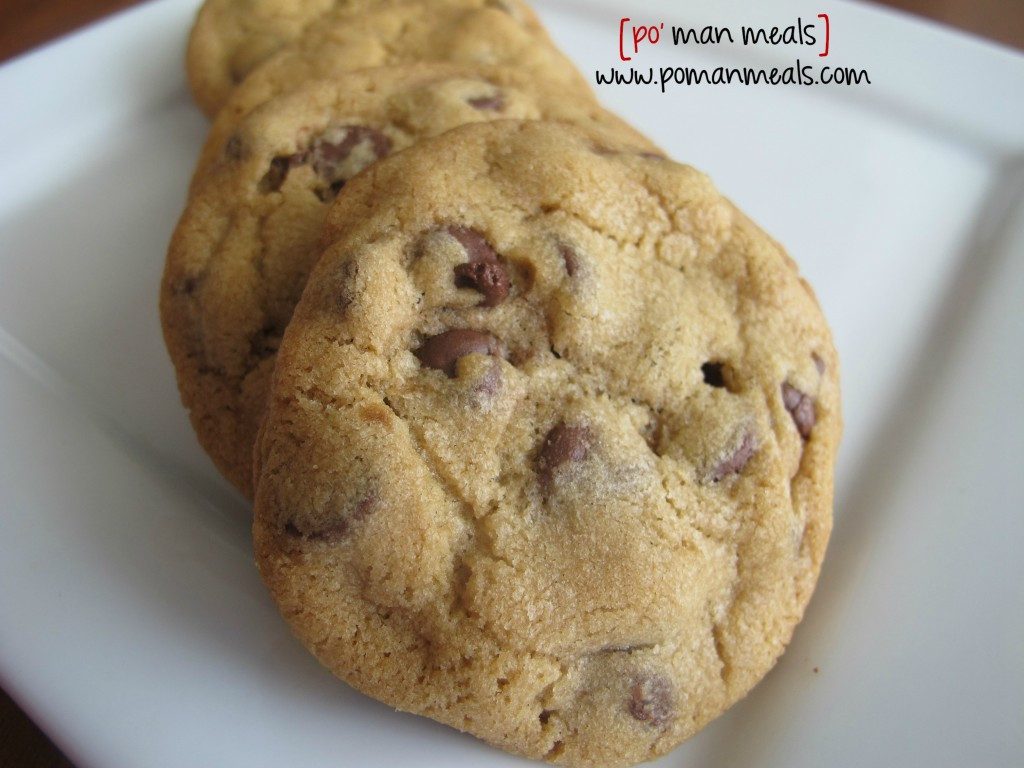 Basic Chocolate Chip Cookies  po man meals simple chocolate chip cookies