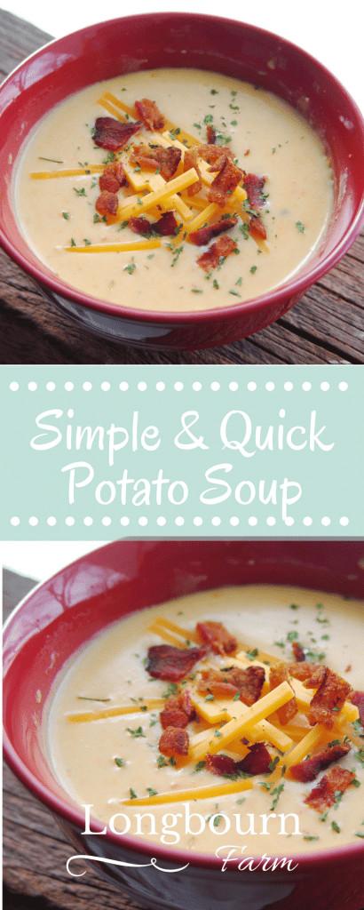 Basic Potato Soup Recipe  Simple and Quick Potato Soup