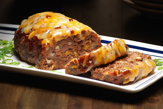 Bbq Meatloaf Recipe  Barbecue Bacon Cheeseburger Meatloaf Recipe Kraft Recipes