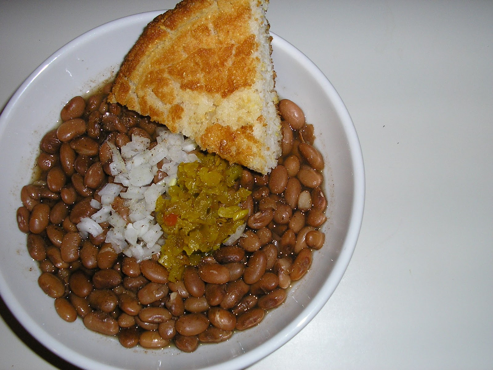 Beans And Cornbread  Fatback and Foie Gras Brown Beans Cornbread and