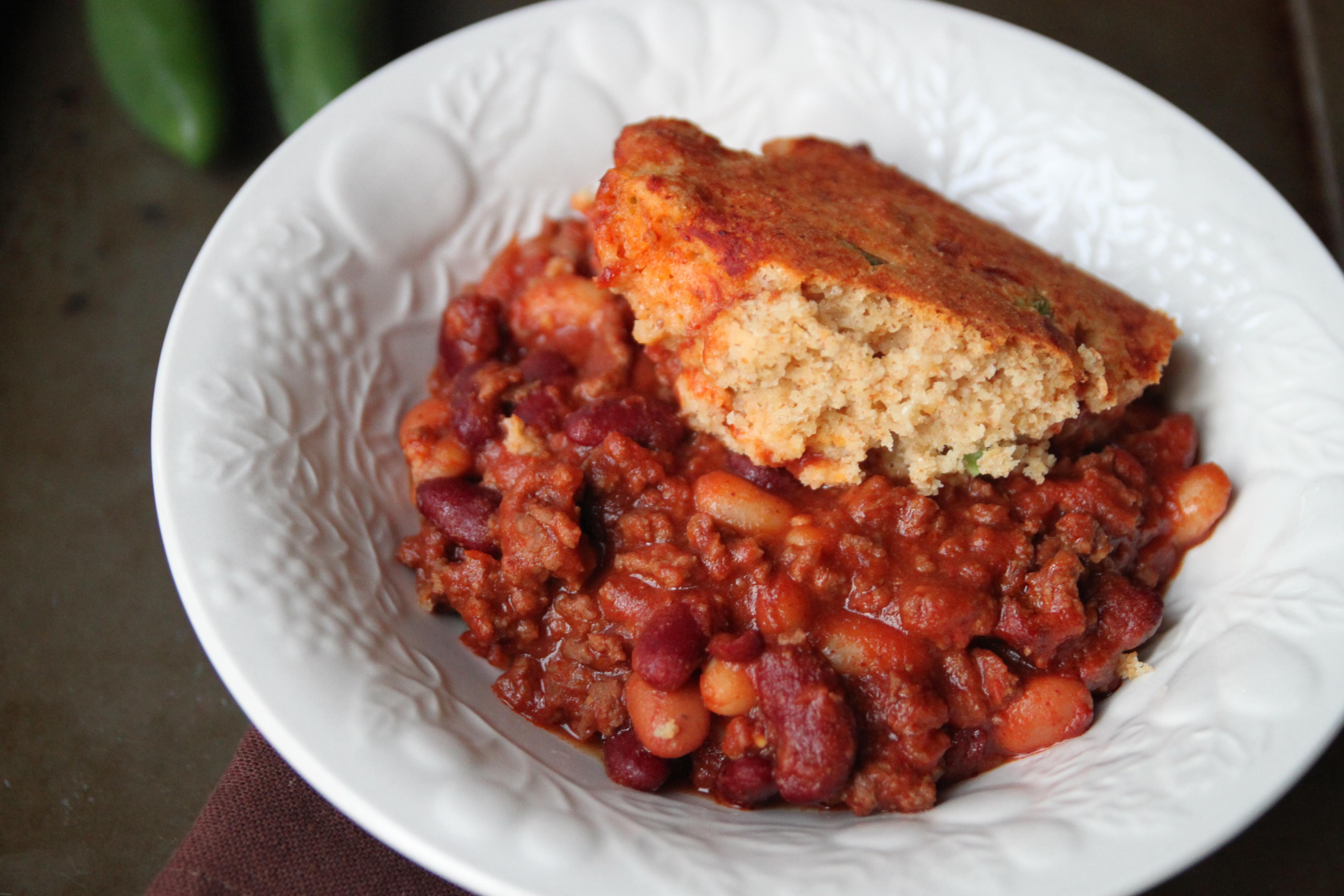 Beans And Cornbread  Chili Beans and Cornbread Casserole – Bran Appetit