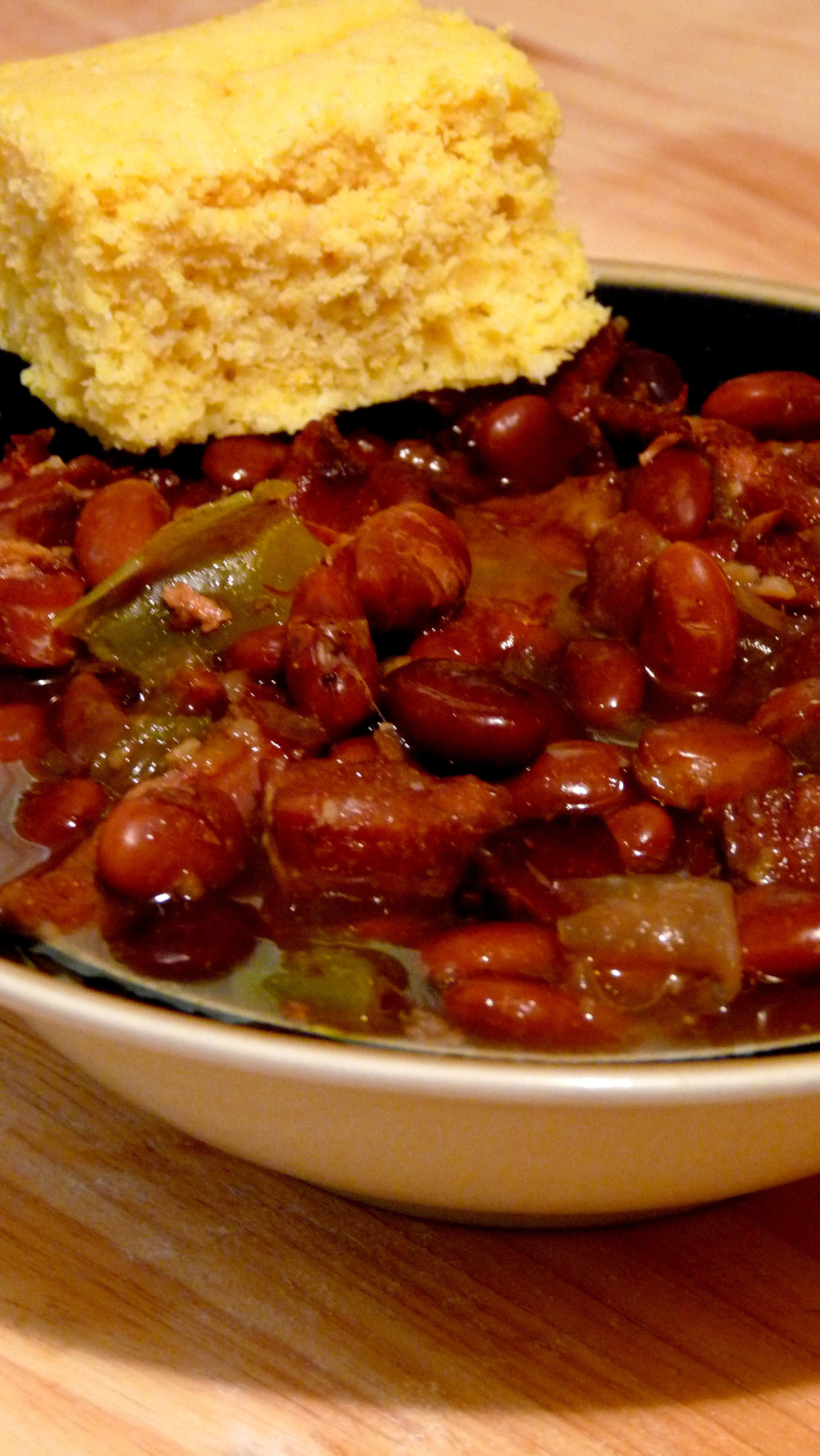 Beans And Cornbread  RECIPE Crock Pot Pinto Beans and Ham with Maple Cornbread