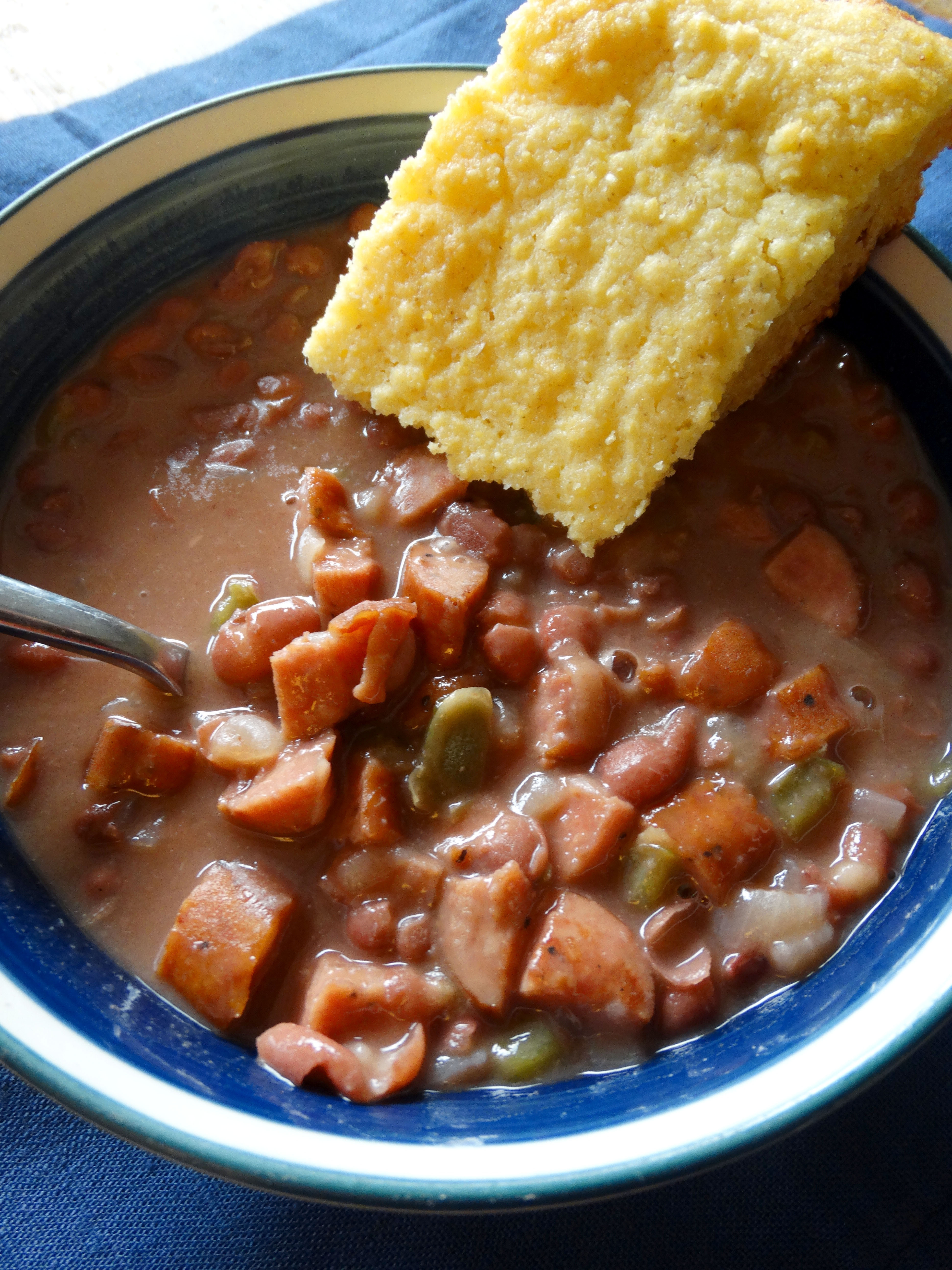 Beans And Cornbread  fort in the bowl Gene's red beans and Homestead