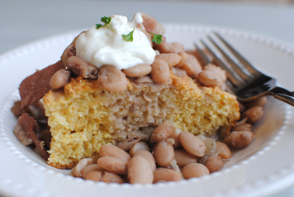 Beans And Cornbread  Crockpot Pinto Beans and Cornbread