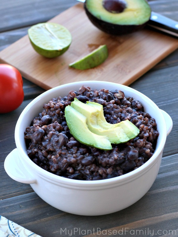 Beans And Rice Instant Pot  Instant Pot Black Beans and Rice My Plant Based Family