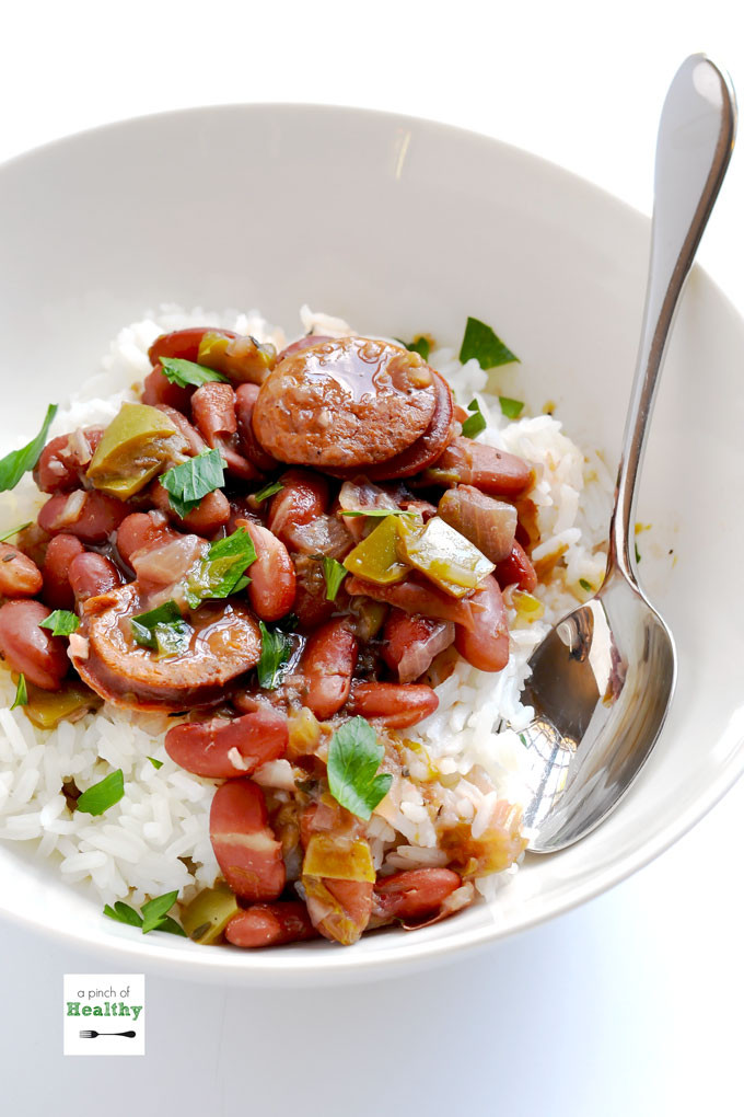 Beans And Rice Instant Pot  Instant Pot Red Beans and Rice A Pinch of Healthy