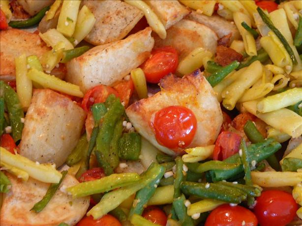 Beans Greens Tomatoes Potatoes  Roasted Potatoes Cherry Tomatoes And Green Beans Recipe