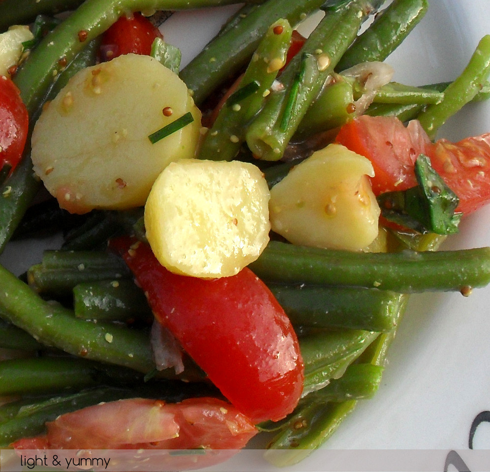 Beans Greens Tomatoes Potatoes  Potato Green Bean and Cherry Tomato Salad light & yummy
