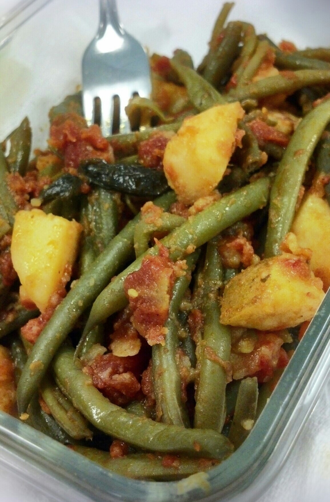 Beans Greens Tomatoes Potatoes  Green Beans and Potatoes in Tomato Basil Sauce