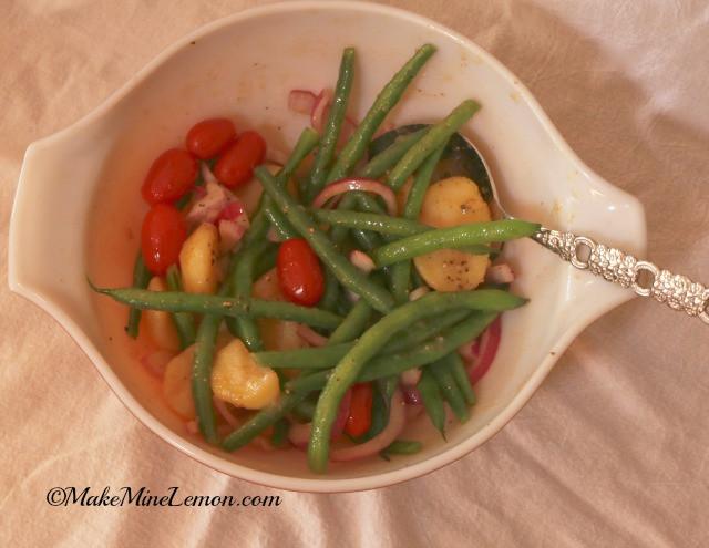 Beans Greens Tomatoes Potatoes  Potatoes and Green Beans Make Mine Lemon