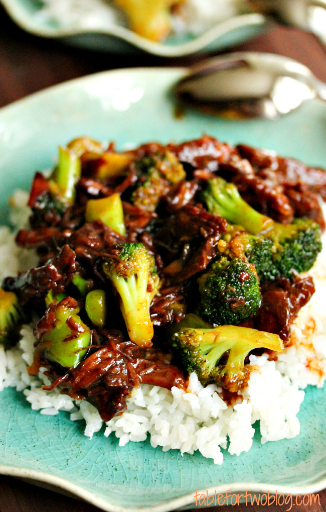 Beef And Broccoli Slow Cooker  Take Out Fake Out Beef & Broccoli Crockpot Table for Two