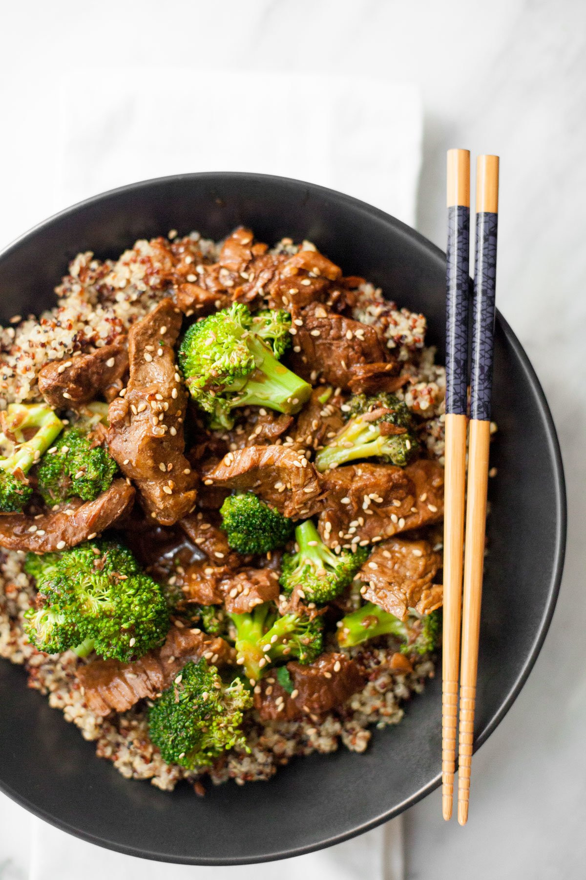 Beef And Broccoli Slow Cooker  Slow Cooker Beef and Broccoli with Quinoa