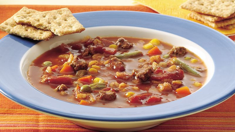 Beef Barley Vegetable Soup  Ve able Beef Barley Soup recipe from Betty Crocker