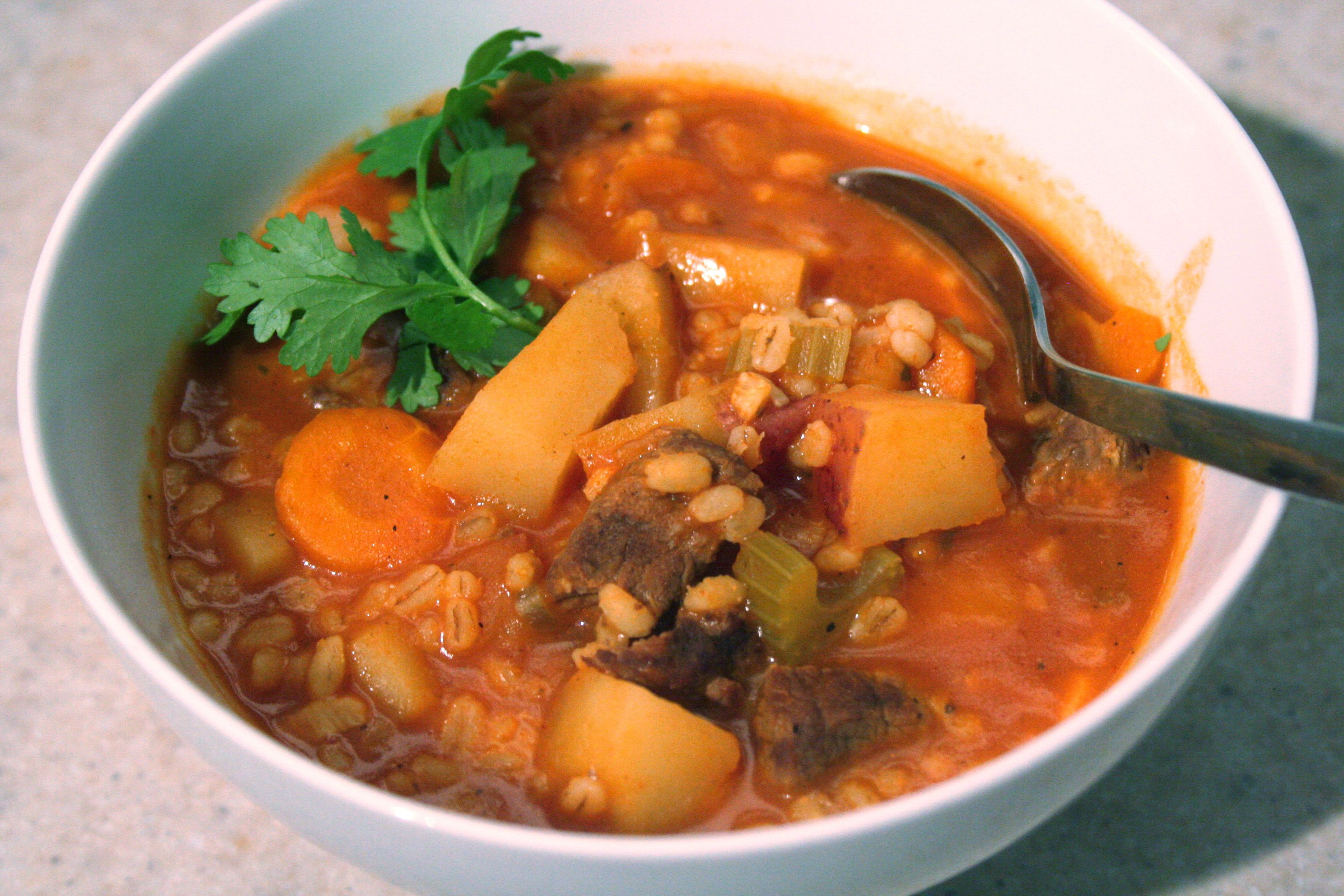 Beef Barley Vegetable Soup  Ve able beef barley soup