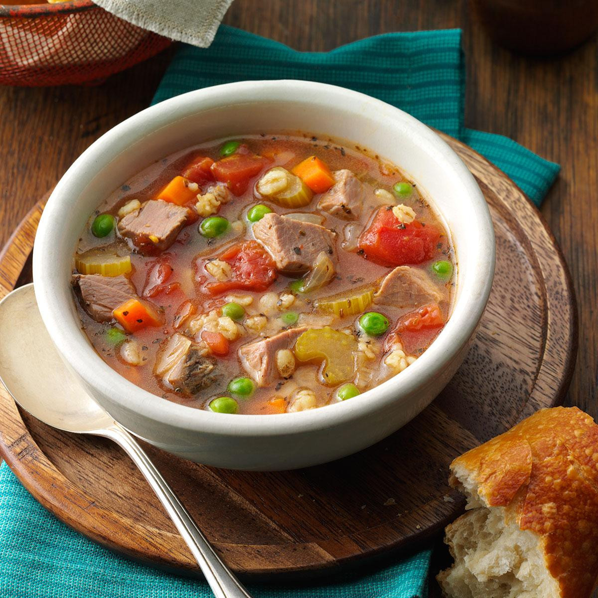 Beef Barley Vegetable Soup  Beef Barley Soup for 2 Recipe