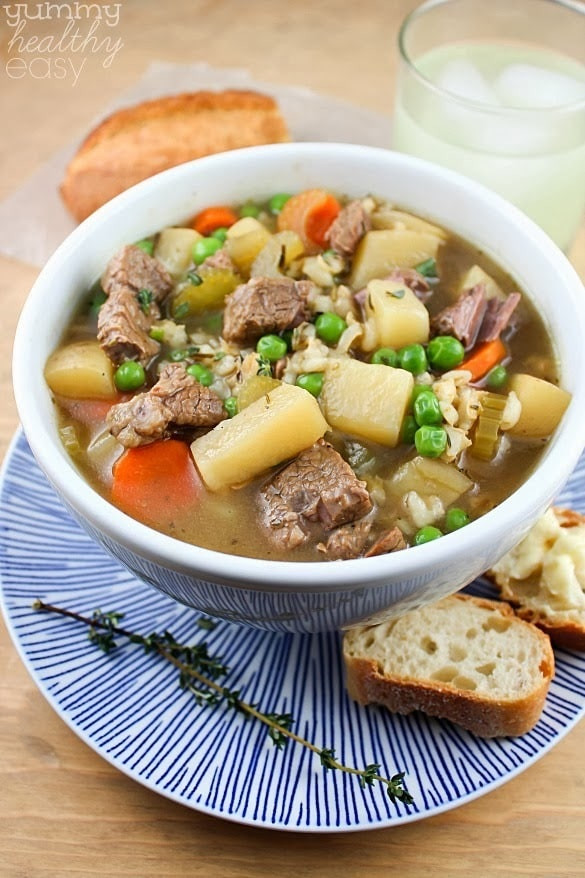 Beef Barley Vegetable Soup  The Best Ever Slow Cooker Ve able Beef Barley Soup