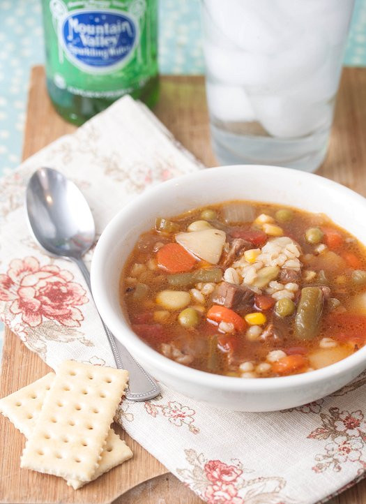 Beef Barley Vegetable Soup  Ve able Beef & Barley Soup Tide & Thyme